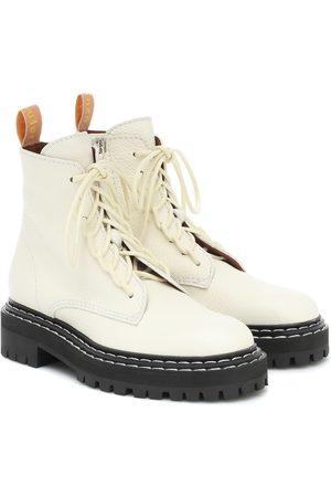 Proenza Schouler Kvinder Ankelstøvler - Leather lace-up ankle boots