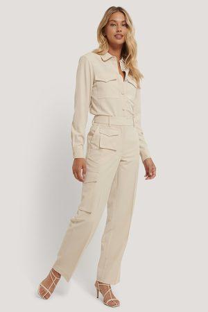 NA-KD Kvinder Habitbukser - Multi Pocket Suit Pants
