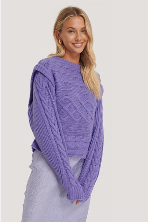 NA-KD Kvinder Strik - Vest Cable Knitted Sweater