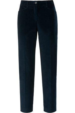 Brax Slim Fit 7/8-buks i bredriflet fløjl Fra Feel Good blå