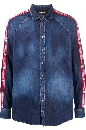 Dsquared2 Mænd Denim - Denimskjorte med side-striber