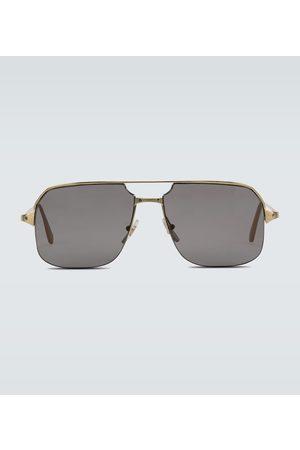 CARTIER EYEWEAR Metal aviator sunglasses