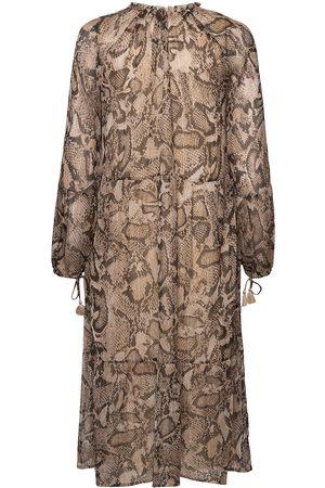 Ilse Jacobsen Long Dress Crin7005b Maxikjole Festkjole Beige