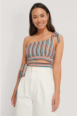 The Fashion Fraction x NA-KD One Shoulder Tie Top