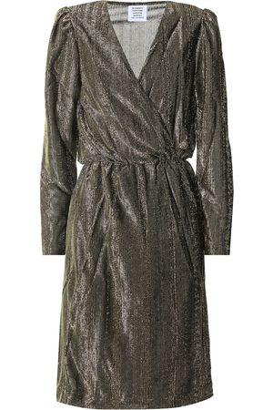 Vetements Metallic wrap dress