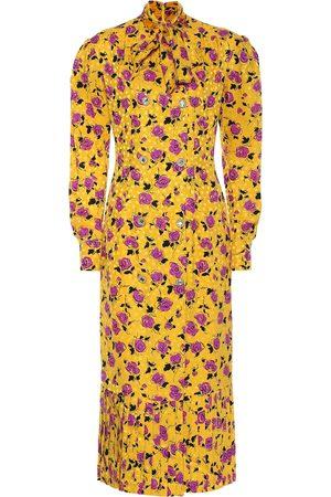 Alessandra Rich Floral silk jacquard midi dress