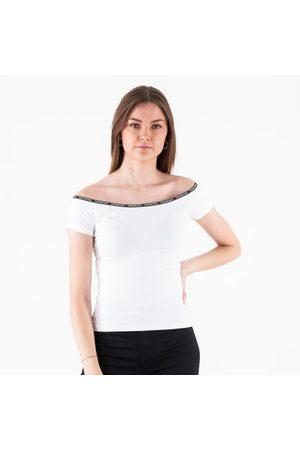 Calvin Klein Kvinder Toppe - Logo trim ss bardot top