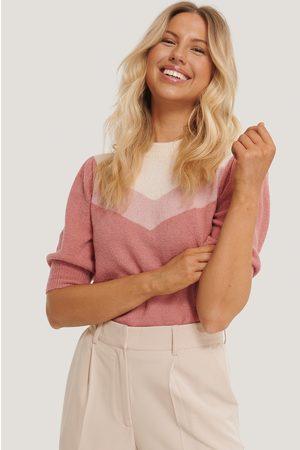 NA-KD Kvinder Toppe - Colorblock Knitted Top