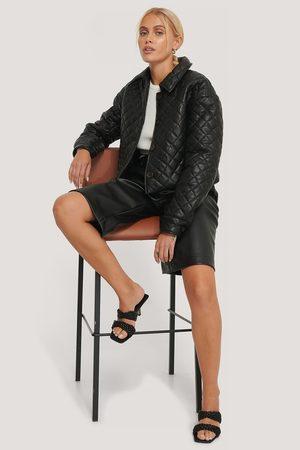 NA-KD Kvinder Jakker - Quilted Short PU Jacket