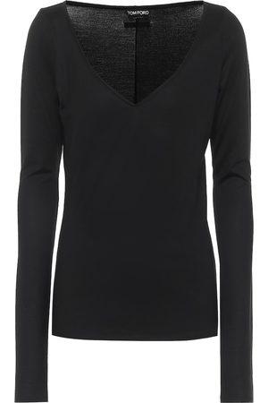 Tom Ford Kvinder Strik - Stretch-wool sweater