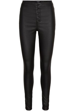 Vero Moda Vmjoy Coated High Waist Skinny Fit Jeans Kvinder Sort