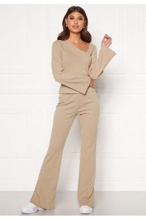 BUBBLEROOM Lesley rib trousers L