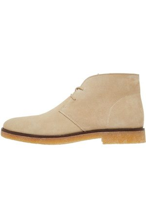 Bianco Biadino Lace-up Boots Mænd Beige