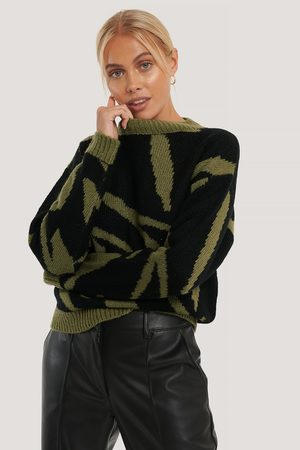 NA-KD Kvinder Strik - Animal Knitted Sweater