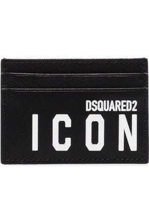 Dsquared2 Mænd Punge - Icon logo-print leather card holder