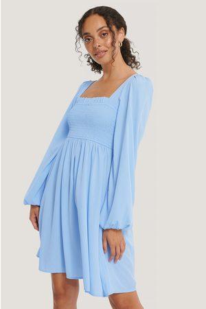 NA-KD Kvinder Sommerkjoler - Smocked Square Neck Dress