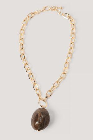 NA-KD Big Stone Chain Necklace
