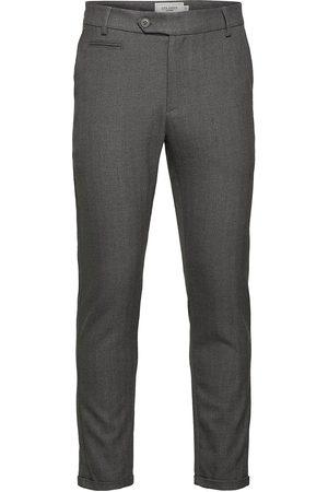 Les Deux Mænd Habitbukser - Como Herringb Suit Pants Habitbukser Stylede Bukser Grøn