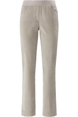 Brax Bekvem ProForm Slim-buks i fin fløjl model Pamina Fra Raphaela by beige