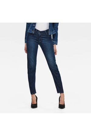 G-Star Kvinder Slim - Women Joci 3D Mid Slim Jeans Dark blue