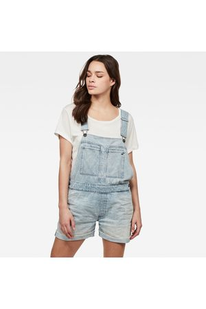 G-Star Kvinder Overalls - Women Faeroes Boyfriend Short Overall Ripped Edge Turnup Light blue