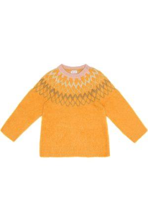MORLEY Piger Strik - Fuzzy Bear alpaca-blend sweater