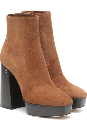 Jimmy Choo Kvinder Støvler - Bryn 125 suede platform boots