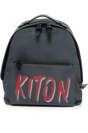 Kiton Leather and cordura rucksack