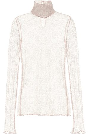 JONATHAN SIMKHAI Hali point d'esprit turtleneck top