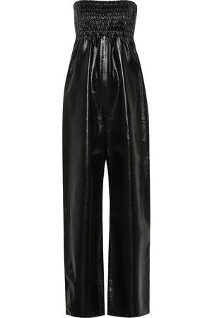 Bottega Veneta Strapless leather jumpsuit