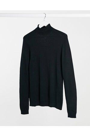 ASOS Tætsiddende trøje i merinould med rullekrave fra