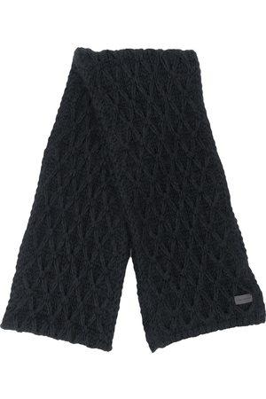 Saint Laurent Diamond cable-knit scarf