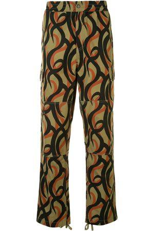 Ports V Kassebukser - Bukser med brede ben og abstrakt tryk