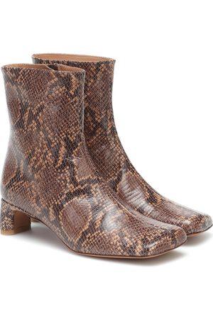 LOQ Kvinder Støvler - Monica snake-print leather boots