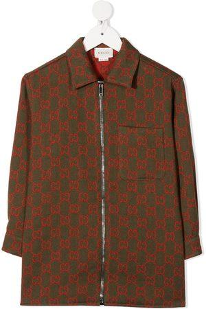 Gucci GG Supreme jakke med broderi