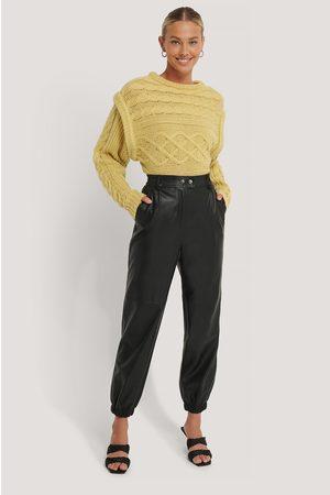 NA-KD Elastic PU Pants