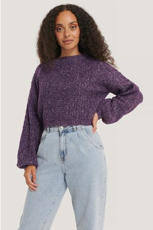 NA-KD Kvinder Strik - Melange Knitted Cropped Sweater