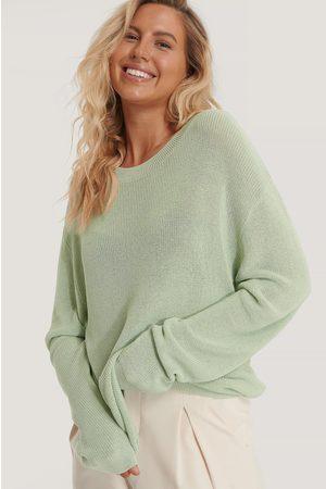 NA-KD Kvinder Strik - Light Knit Round Neck Sweater