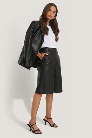 NA-KD Kvinder Shorts - PU Long Bermuda Shorts