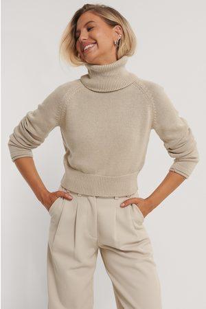 NA-KD Kvinder Strik - High Neck Knitted Sweater