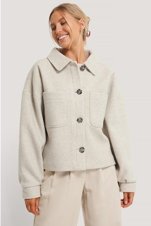 NA-KD Wool Blend Oversized Short Jacket