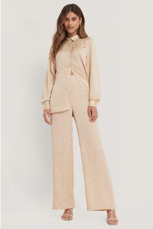 NA-KD Kvinder Bukser - Crinkled Suit Pants