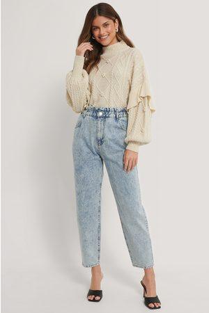 NA-KD Loose Fit Paperwaist Jeans