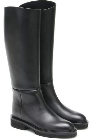 Khaite Derby leather knee-high boots