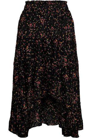 Lollys Laundry Kvinder Midinederdele - Bali Skirt Knælang Nederdel Sort