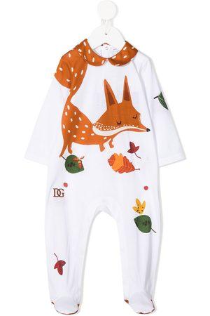 Dolce & Gabbana Fox-print cotton pajamas
