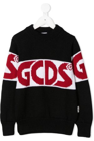 GCDS Colour-block logo knit jumper