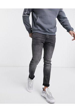 Jack & Jones Intelligence - Glenn - Sortvaskede smalle jeans i tapered fit