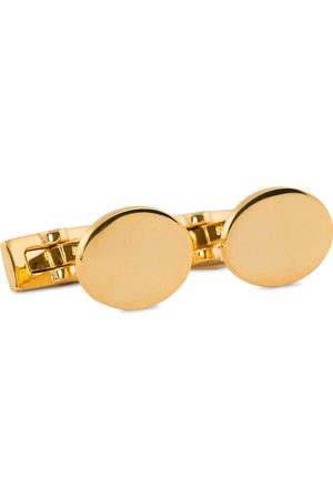 Skultuna Cuff Links Black Tie Collection Oval Gold
