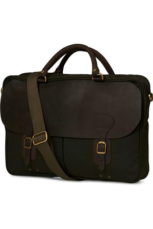 Barbour Wax Leather Breifcase Olive